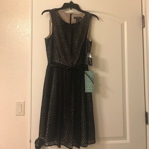 Adorable polka dot dress with belt