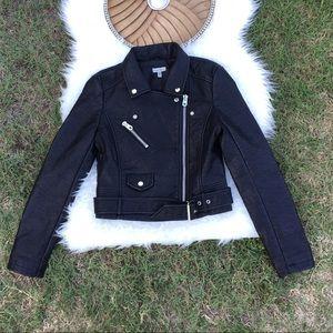 "Silence + Noise ""Tough Leather Moto Jacket"""