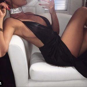 Oh Polly tight black dress