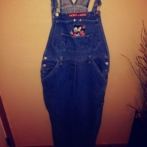 Mickey and Minnie Mouse  overalls 36/30