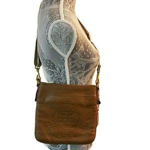RALPH LAUREN Stockbridge tum flat crossbody bag