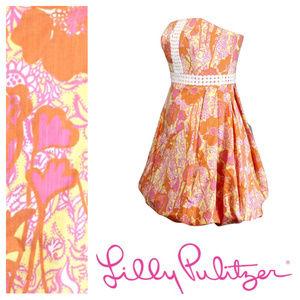 LILLY PULITZER Regency Bubble hem dress Size 4