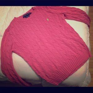 Pink Ralph Lauren pullover sweater