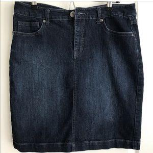 style & co denim skirt on Poshmark