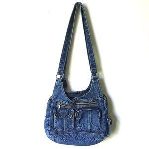 Vintage Denim Blue Jean Shoulder Bag Purse