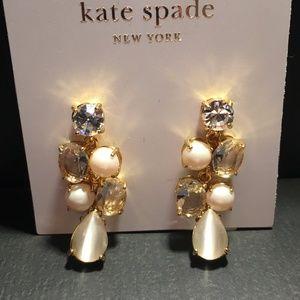 NWT Kate Spade Pearl Earrings w Star Stud Earrings