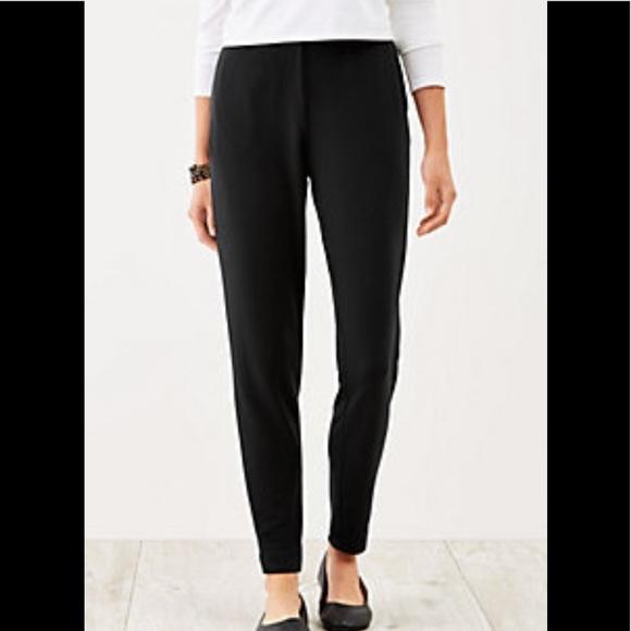 09105a31704640 J. Jill Pants | J Jill Slim Leg Ponte Pant Black Large Petite | Poshmark