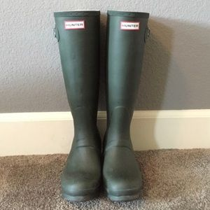 Classic Tall Forest Green Hunter Boots