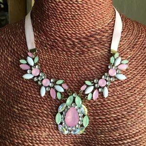 Stunning pastel statement necklace