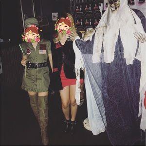 Top Gun Women Flight Halloween Costume Size S