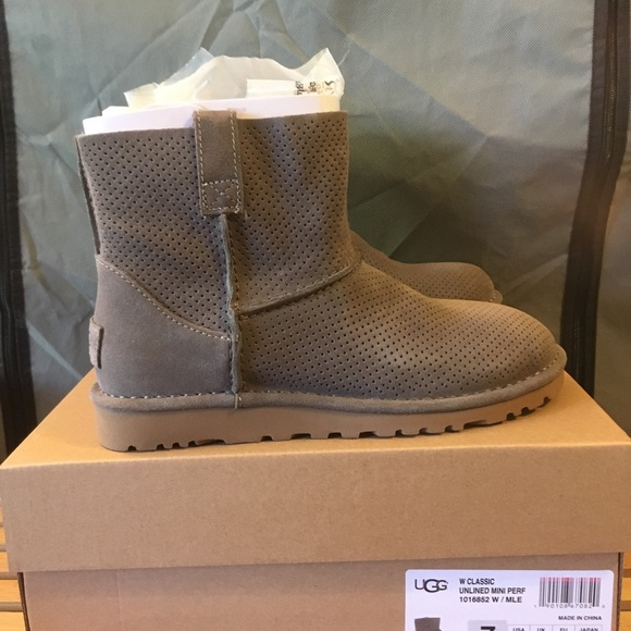 d09f448f8d3 UGG® Classic Unlined Mini Perforated Suede Booties NWT