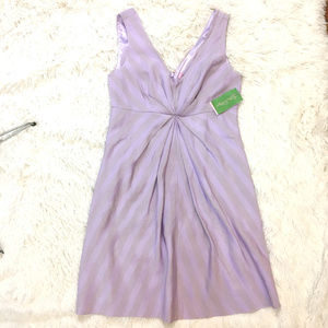 Lilly Pulitzer lavender and metallic stripe dress