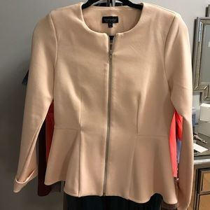 Top shop zipper blazer