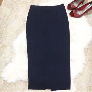 Asos Navy Blue Long Pencil Skirt Size 4