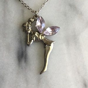 Bejeweled Tinkerbell Necklace