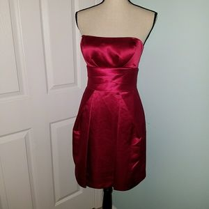 Nwot Max & Cleo Red Strappy/Strapless Dress