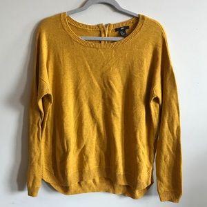 H&M cozy mustard sweater