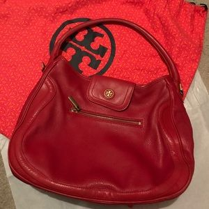 Authentic Red Tory Burch Should Bag