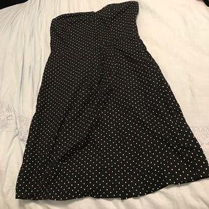 Vans Strapless Polka Dot Dress