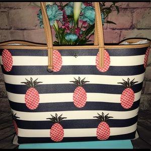Tory Burch Kerrington Pineapple Shoulder Tote Bag