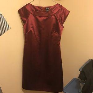 Burgundy BCBG dress