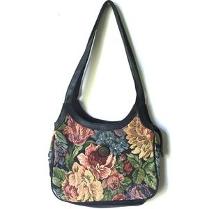 Vintage Mitzi Floral Tapestry Shoulder Bag Purse