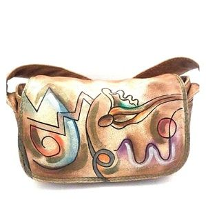 SAM SAM artsy leather crossbody