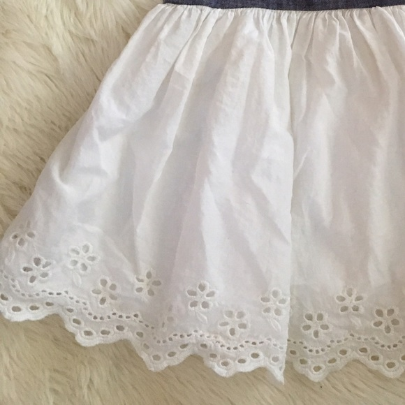 off GAP Other Baby Gap White & Denim Eyelet Dress 3