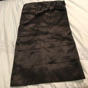 R.e.d. Valentino Black Layered Mini Silk Dress