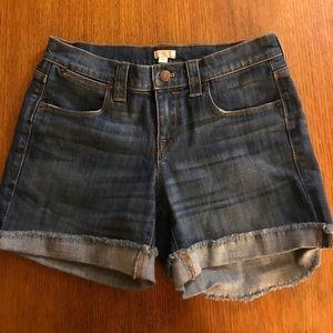 Jcrew denim shorts size 26