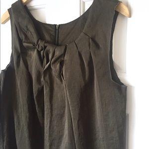 Ann Taylor Loft olive green dress top