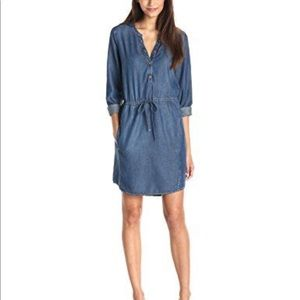 Handcrafted Lucky Brand Denim Shirt Dress Sz S