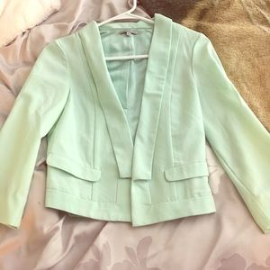 Charlotte Russe Mint Cropped Blazer