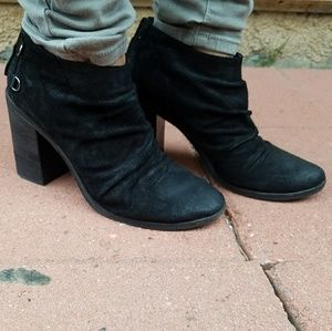 boutique 9 shale slouch bootie distressed leather