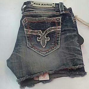 Rock revival windie shorts