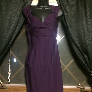 Pinup Couture Erin Dress in Plum NWT