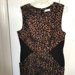 Calvin Klein leopard print Dress Sz L