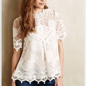 Like New Anthropologie Pineapple Top
