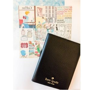 New Kate Spade Passport Holder In Black!