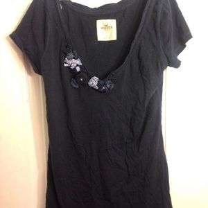 Hollister Blouse With Flower Design