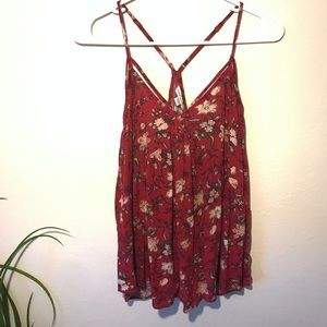 American Eagle Racerback floral tank