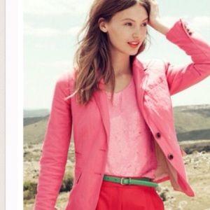 J.crew pink schoolboy blazer