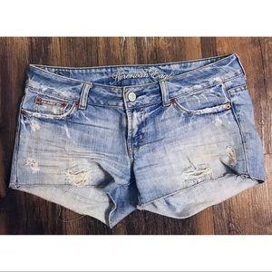 American Eagle Denim Jean Distressed Shorts