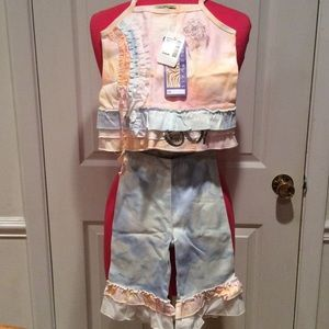 "SAKS 5TH AVE., NWT, ""LITTLE MASS"" TODDLER SET"