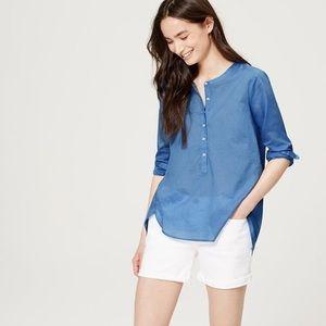 Collarless Cotton Softened Shirt