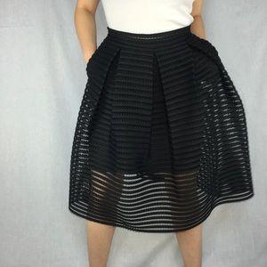 ‼️CLEARANCE‼️Textured Box Pleat Skirt