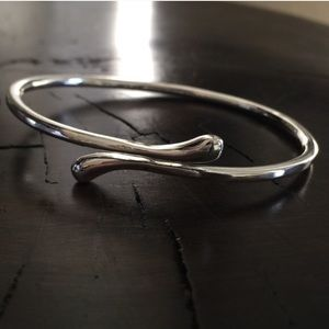 Jewelry - Sterling Silver Bangle Open Wrap Bracelet