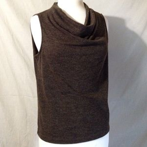 Rafaella Petite Sleeveless Cowl Neck Sweater