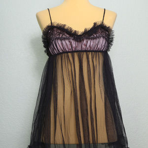 Victoria's Secret Sexy Little Things Black Sheer S