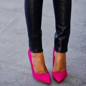 Shoedazzle • Hot pink Barbie slingback heels